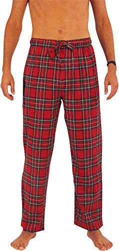 Men's Cotton Tartan Plaid Flannel Pants