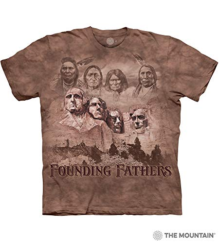 The Mountain The Founders Adult T-Shirt, Brown, XL