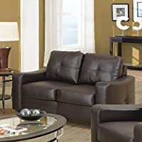 Coaster Home Furnishings 502732 Casual Contemporary Loveseat, Brown
