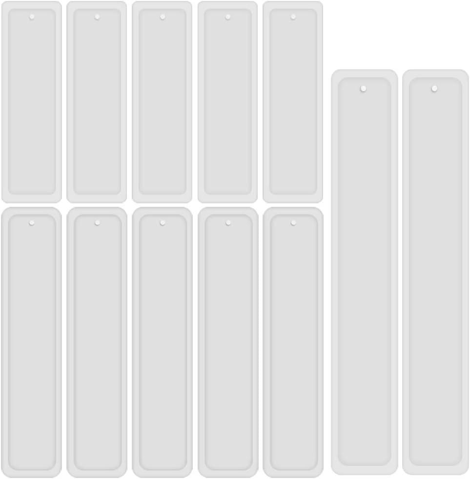 Satz Rechteck Silikon Lesezeichen Form 2 Stuecke DIY Lesezeichen Formhers n60