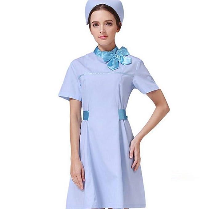 ESENHUANG Unisex Medical Coat Coat Ropa De Hospital Uniforme De Hospital Ropa De Enfermera De Manga Corta Medical Suit Lab: Amazon.es: Ropa y accesorios
