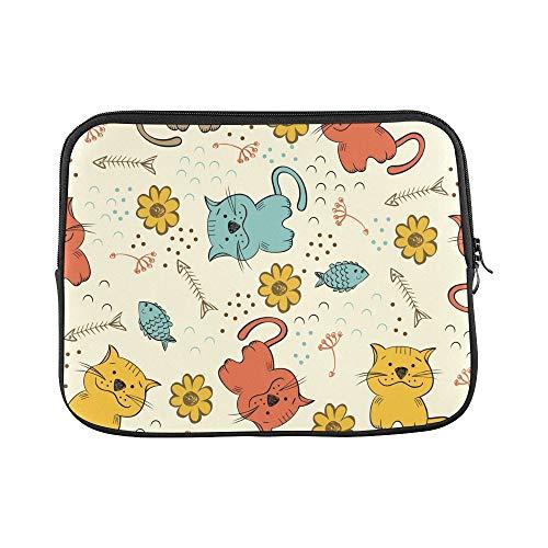 Design Custom Cat Pet Cartoon Pet Creative Hand Drawn Sleeve Soft Laptop Case Bag Pouch Skin for MacBook Air 11