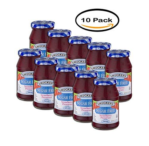 (PACK OF 10 - Smucker's Strawberry Sugar Free Preserves, 12.75 oz)
