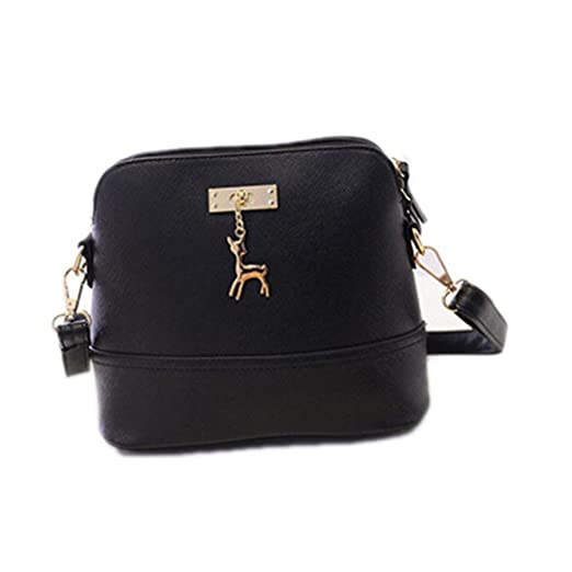 4ab98148a7f9 Vintage NubuckLeather Women Bags Small Shell Bag With Deer Toy Women Shoulder  Bag Winter Casual Crossbody