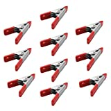Metal Spring Clamp Grips PVC Cushion Clips Steel Spring Clamps Have Vinyl tips handles to help prevent marring Great For Home DIY Projects as Camera Setups Craft Projects and More(4 inch-16pcs)