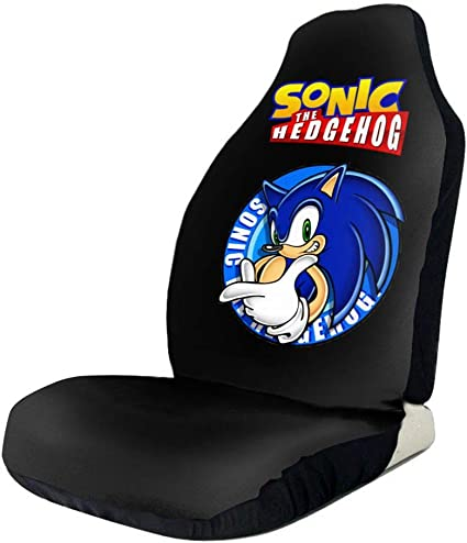 Amazon Com Xcxgsfam Sonic The Hedgehog Car Seat Covers Funny Truck Seat Cover Compatible Fits For Most Car Universal Sports Outdoors