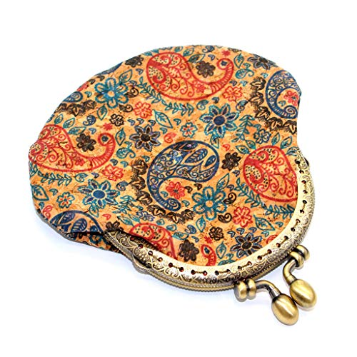 YOMXL New Ethnic Style Purse Print Semi-Circular Fashion Bag Retro Handmade Wallet