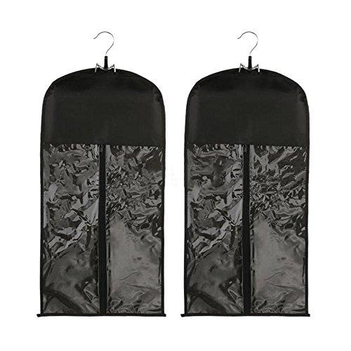 Xingoukeji Dustproof Wig Storage Bag Hair Extension Holder Hair Hanger with Zipper, Black by xingoukeji (Image #3)
