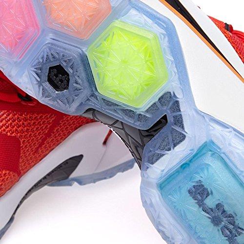 Nike Lebron Xii Mænds Basketball Sko Unvrsty Rd, Blk-hvid-hypr Crm