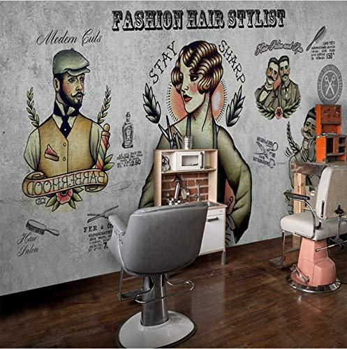 Zybnb 5D Papel Murals Großformatige Großformatige Großformatige Friseur Barber Shop Zement Salon 3D Wand Foto Wandbild Tapete Wandbilder Tapete B07M7JBFXS Wandtattoos & Wandbilder 89fdba