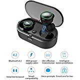 True Wireless Earbuds Mini Noise Cancelling Bluetooth V4.2 Earphones HD Stereo Waterproof With 500mAh Charging Case For Running Gym 10M Working Distance