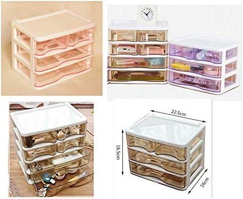 Büro Kunststoff Desktop Aufbewahrungsbox Schubladen Organizer, Rosa