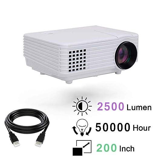 KAIDILA HD LCD Video proyector 2500 lúmenes LED proyector casero ...