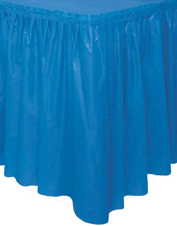 Unique Party- Falda de mesa de plástico, Color azul rey, 420 cm ...
