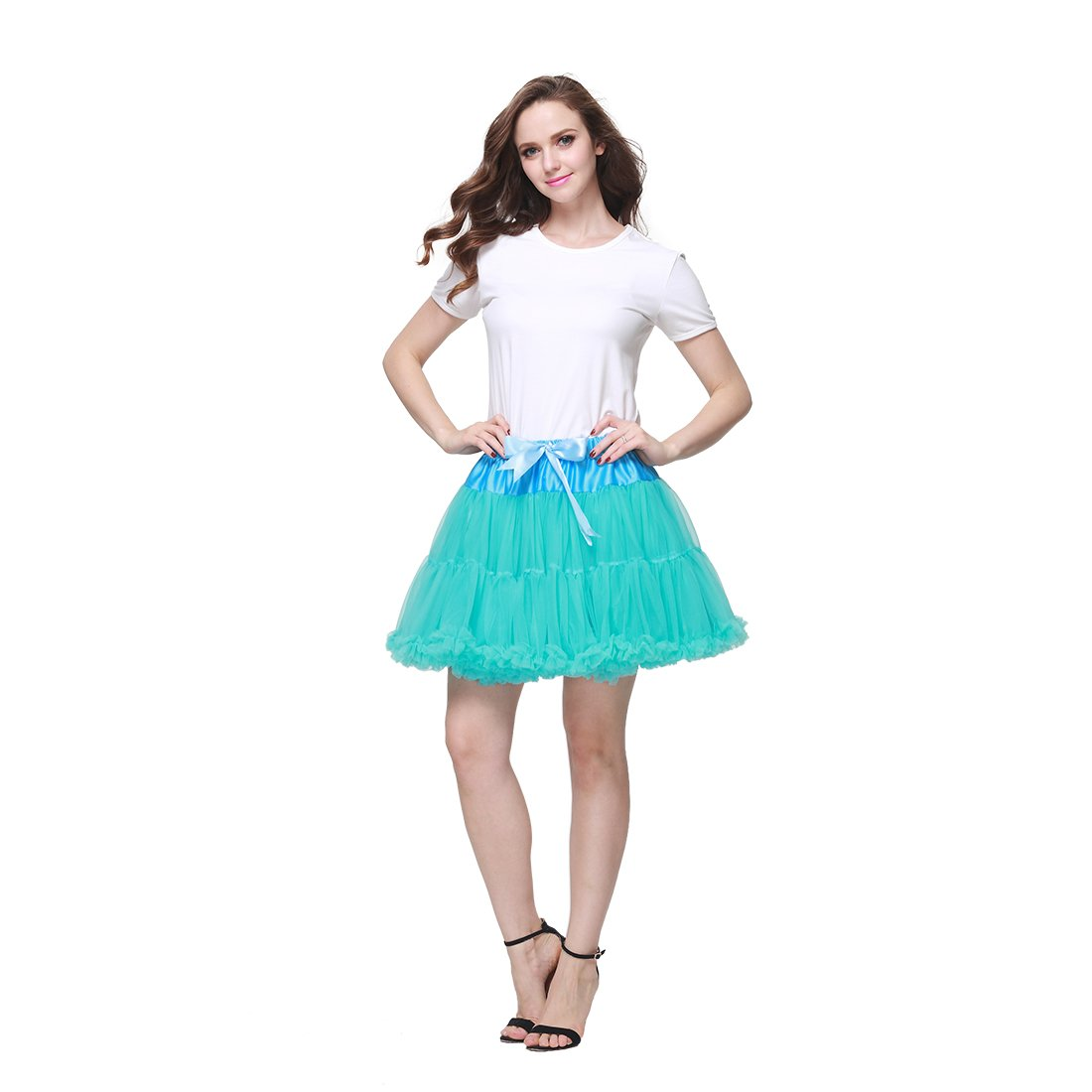 Buenos ninos Damen Plissee Rock, Einfarbig 90 DEN B01I4ZVSY4 Röcke Marke