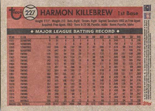 2018 Topps Archives #227 Harmon Killebrew Minnesota Twins Baseball Card