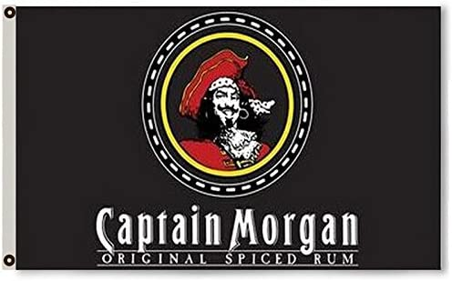 Amazon.com: 2BUT captain morgan Ron bandera Banner 3 x 5feet ...