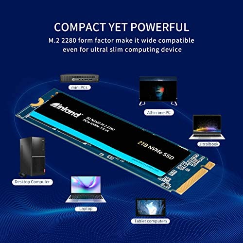 Inland Premium 2TB SSD three-D NAND TLC M.2 2280 PCIe NVMe 3.0 x4 Internal Solid State Drive, Read/Write Speed as much as 3200MB/s and 2900MB/s, 3200 TBW