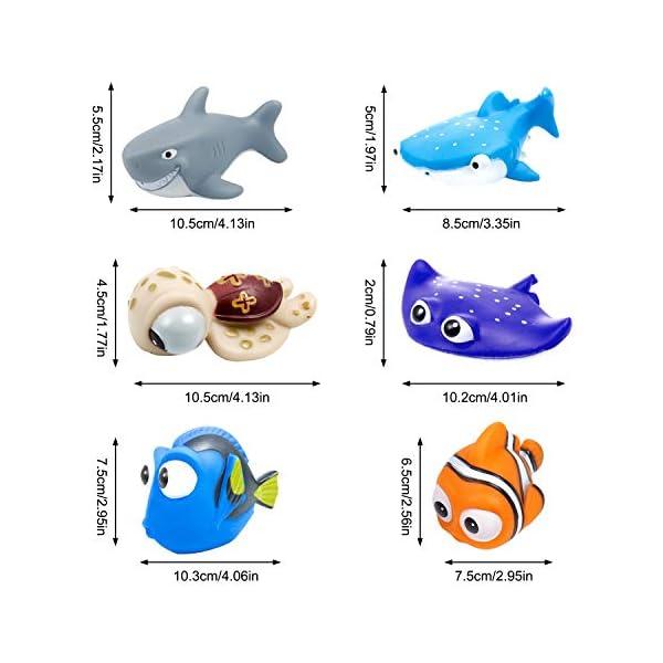 MOOKLIN 6pcs Giocattoli da Bagnetto per Bambini, Pupazzetti per Il Bagno, Galleggianti Che Spruzzano, a Tema Animale da… 4