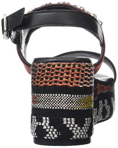 Tantra Damen Ethnic Wedge Sandals With Strass Schwarz (Black)