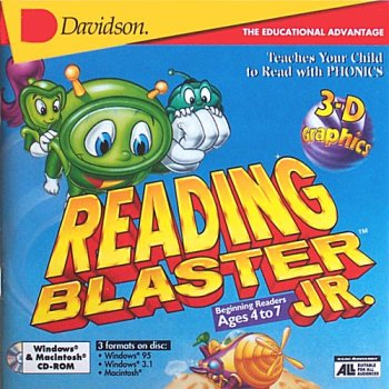 Reading Blaster Jr. Beginning Readers Ages 4 to 7 by Davidson & Associates