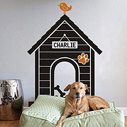 MairGwall : Personalizados Nombre Vinilo Adhesivo para Pared Perro Casa Pared Adhesivo (XL, cámara