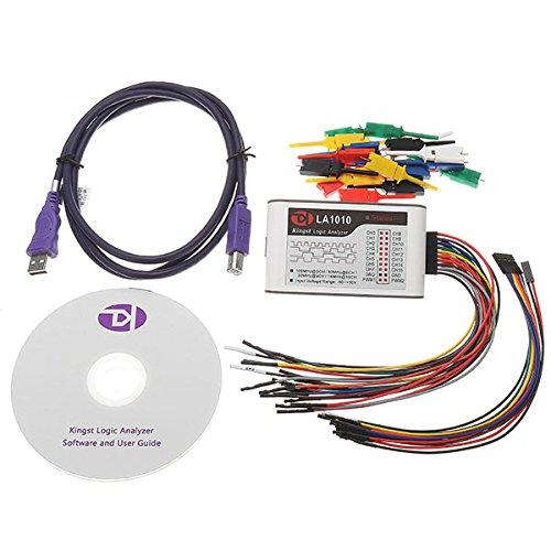 LA1010 USB Logic Analyzer 100M Max Sample Rate 16 Channel MCU/ARM/FPGA Debug Tool Oscilloscopes
