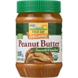 Field Day Peanut Butter Organic Smooth Unsalted, 12 Count