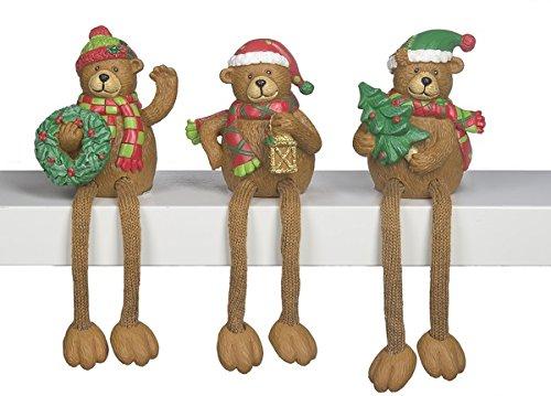 GANZ - Christmas Bear Shelf Sitters - Set of 3