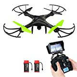 Drone with Camera, Potensic® U42W Wireless FPV 2.4Ghz RC Quadcopter Drone RTF Altitude Hold UFO with Newest Hover and 3D Flips Function, WiFi HD Camera
