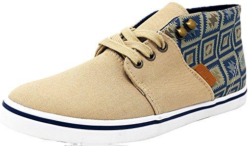 Vans Camryn Slim Nativo Alla Caviglia-alta Scarpe Da Skateboard Canvas Tan / Blu
