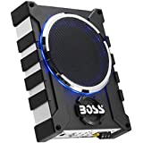 BOSS Audio BASS1000 1000 Watt Low Profile Amplified 8 Inch Subwoofer with Remote Subwoofer Control