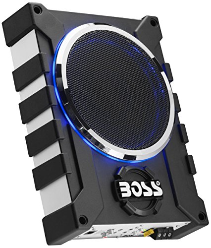 BOSS Audio BASS1000 1000 Watt Low Profile Amplified 8 Inch Subwoofer with Remote Subwoofer Control by BOSS Audio