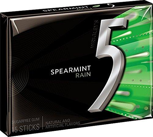 Wrigley' 5 Sugar Free Chewing Gum 15 sticks (Pack of 6