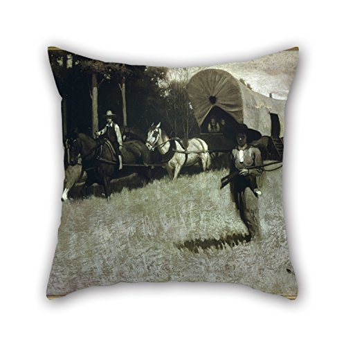 [Slimmingpiggy The Oil Painting Norman Rockwell - Scouting With Daniel Boone Pillowcover Of ,18 X 18 Inches / 45 By 45 Cm Decoration,gift For Floor,dance Room,kitchen,sofa,saloon,valentine (two] (Shrek Dance Costume)