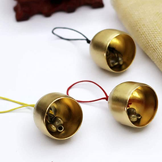 Artibetter 2 Pcs Small Bells Vintage Brass Hanging Bells Crafts Ornaments Pendants Accessories for Keychain Christmas