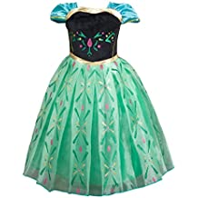 Girl's Short Sleeve Princess Dress up Christmas Cosplay Costume Fancy Party Summer Dress