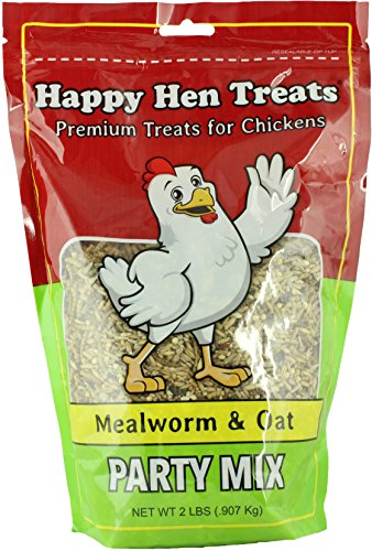 Happy Hen Treats Party Mix Mealworm and Oats, 2-Pound (Chicken Treats)