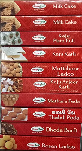 HIMALYA FRESH Authentic Indian Food Gold Value Pack of 10 - Indian Food Sweets With No Fillers Or Preservatives by Himalya Fresh