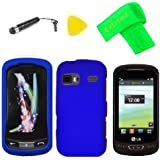 Blue Hard Case Phone Cover + Extreme Band + Stylus Pen + LCD Screen Protector + Yellow Pry Tool for LG Xpression 2 C410 (Blue)