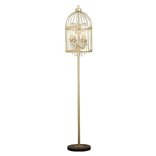 Lámpara de pie Lámpara de pie Retro del diseño de la Jaula del ...