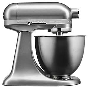 KitchenAid KSM3311XCU Artisan Mini Series Tilt Head Stand Mixer, Contour Silver, 3.5 quart