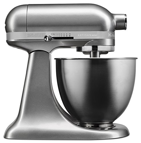 KitchenAid KSM3311XCU Artisan Mini Series Tilt-Head Stand Mixer, 3.5 quart, Contour -