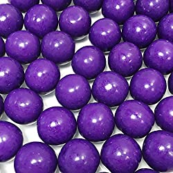Large 1 Purple Gumballs - 2 Pound Bags - About 120 Gumballs Per Bag - Includes How to Build a Candy Buffet Guide