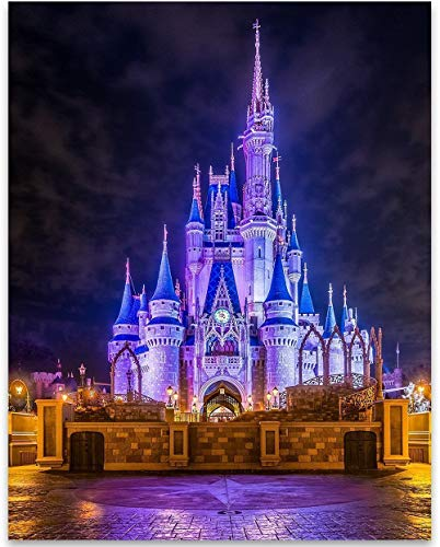 Cinderella's Castle - 11x14 Unframed Art Print - Great Home and Nursery Decor or Gift for Disney Fans -