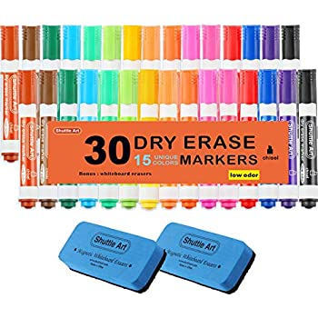 Amazon.com : Dry Erase Markers with Eraser, 30 Pack