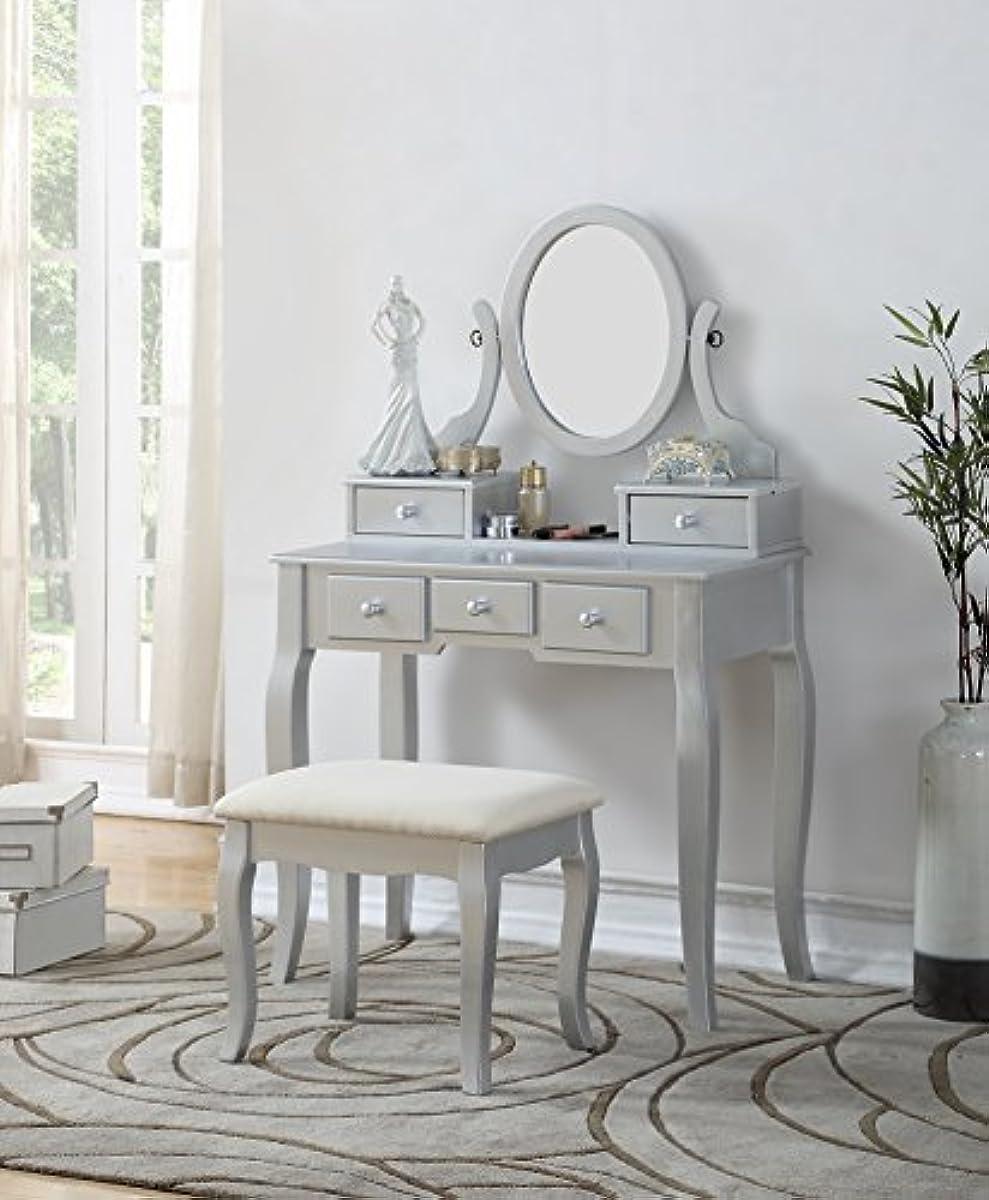 Details about Luxury Bedroom Furniture Vanity Table Beauty Mirror for Women  Set Corner NEW