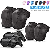 BOSONER Kids/Youth Knee Pad Elbow Pads Guards Protective Gear Set for Rollerblade Roller Skates Cycling BMX Bike Skateboard Inline Skatings Scooter Riding Sports