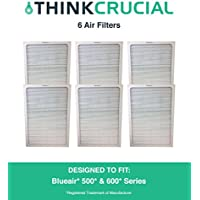 Set of 6 Deluxe 500/600 Series Blueair Air Purifier Filters