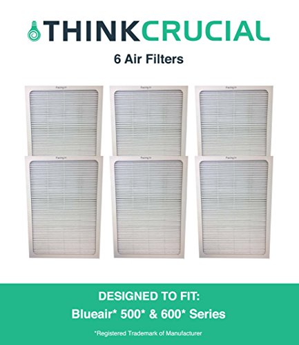 Set of 6 Deluxe 500/600 Series Blueair Air Purifier Filters